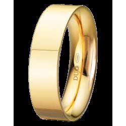 Alianza de boda plana en 6 mm