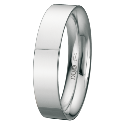 Alianza de boda plana en 5 mm