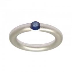Anillo zafiro azul Ortles