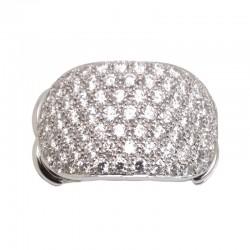 Anillo de pavee de diamantes