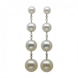 Pendientes largos en perla...