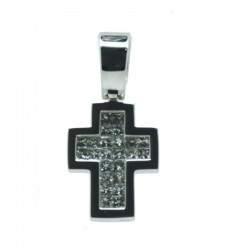 Cruz de diamantes en talla princesa