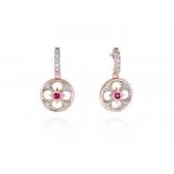 Pendientes FIRENZE Fucsia en plata rosa Referencia 90427PS