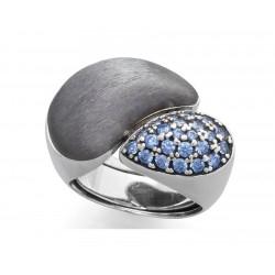 Anillo PAVE Azul en plata