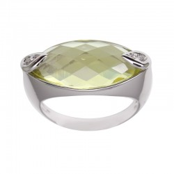 Anillo oro blanco green gold