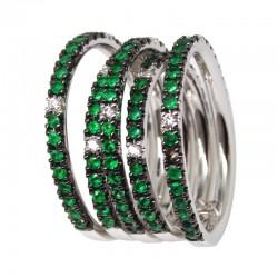 Anillo esmeraldas y diamantes